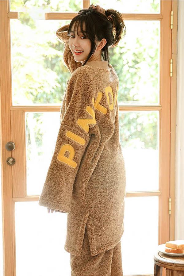 백레터링 포그니 투피스 수면잠옷 여성 파자마지우기