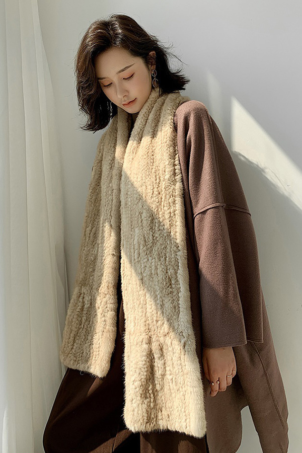 ◆[리얼퍼]촉촉 소프티 겨울코트에 어디든 리얼밍크 롱머플러 (6color)