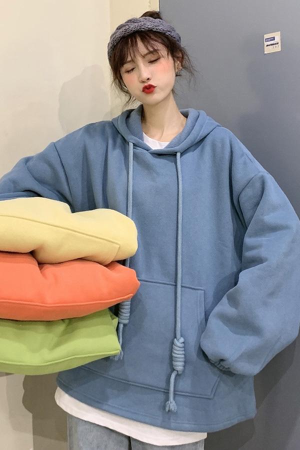 이프박스 컬러 후드티셔츠 (옐로우,오렌지,블루,그린)