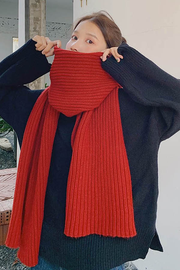 브라이즈 기본 심플 하찌짜임 여성 머플러  (12color)