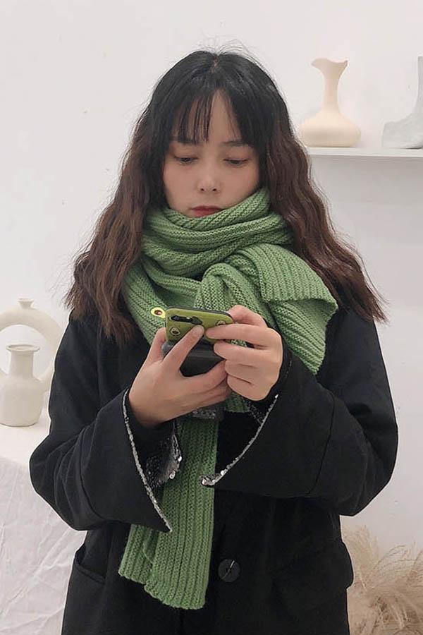 아보카도 송송 큐트 가벼운 여성 머플러 (10color)