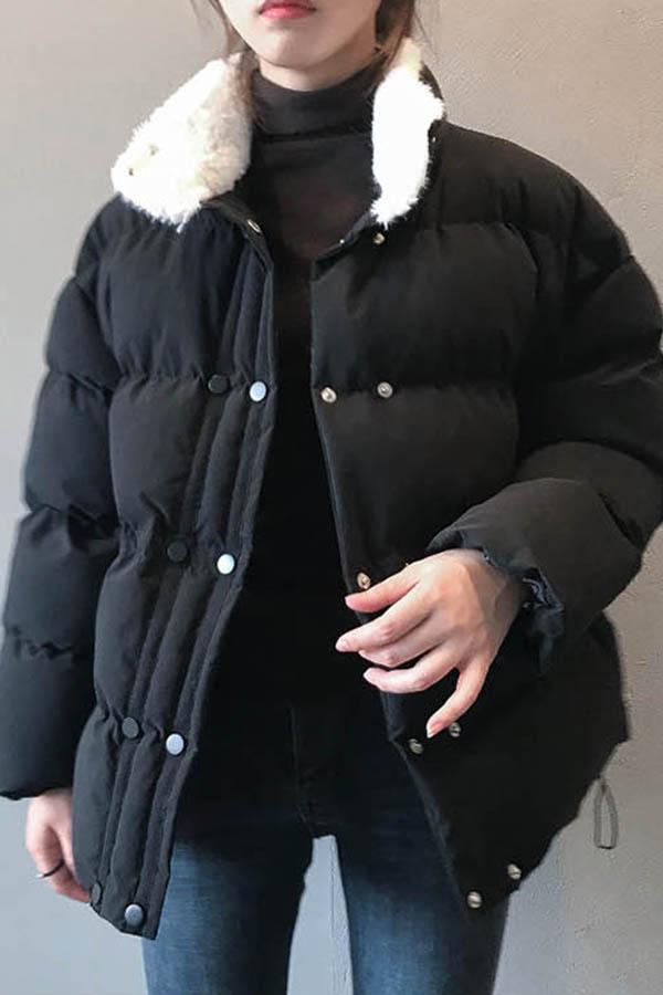 세이알러브유 넥에코퍼카라 지퍼포켓 여성 패딩점퍼 (블랙,콩그린)