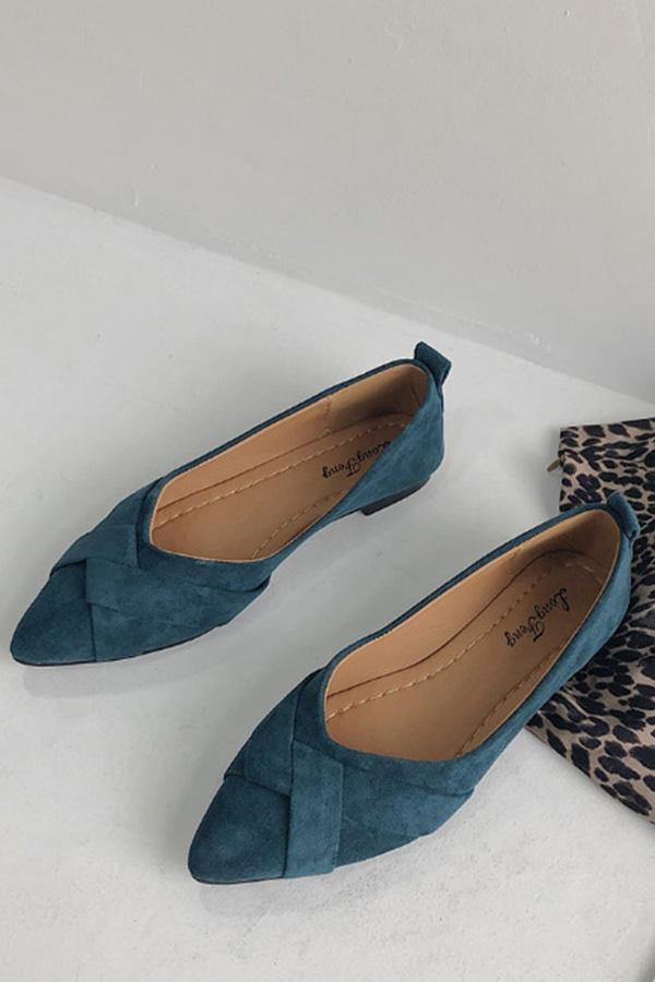 이거사자 데일리 뾰족 플랫 (블랙,블루,핑크,베이지)