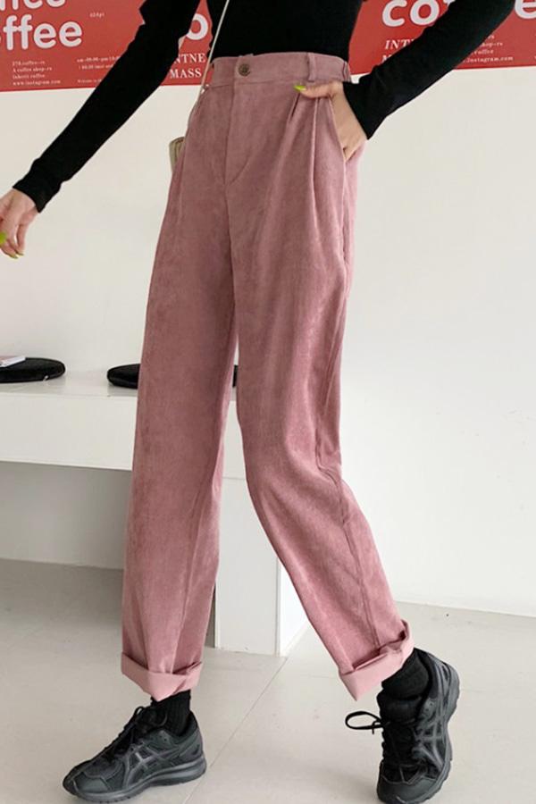 너랑나랑 시밀러룩 데일리 보이핏 컬러 팬츠 (블루,핑크)