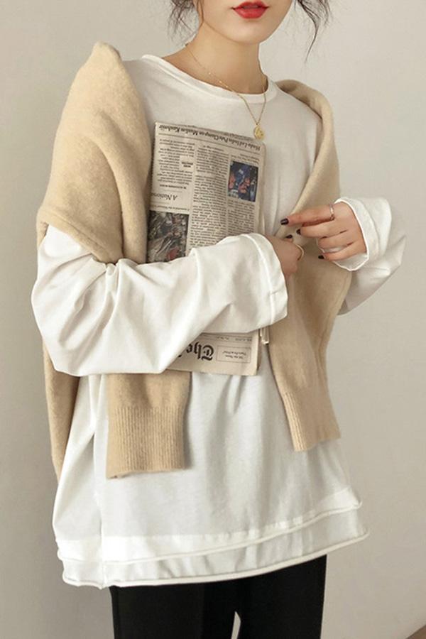 사운드라운드 데일리 루즈핏 티셔츠 (화이트,블랙,커피브라운)
