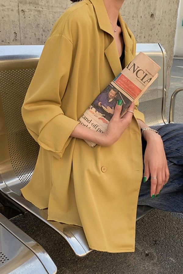 올뉴 가볍게착 봄컬러 여성 자켓 (블랙,화이트,스모크블루,옐로우)